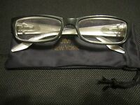 Jm York Reading Glasses +3.50 Gray W/crest Spring Hinge Joy Mangano Grey