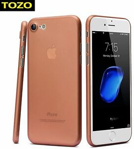 finest selection b08a1 73312 Details about TOZO Ultra Slim Case iPhone 7 Protective Thin Cover  Transparent Rose Gold New