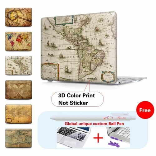 Old World Map Crystal Hard Case For Macbook Air 11 Air 13 Pro Retina 13 15 Case