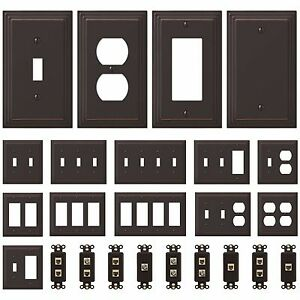 NEW-Switch-Plate-GFI-Outlet-Cover-Wall-Rocker-Oil-Rubbed-Bronze-Finish