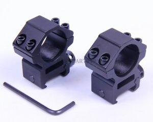 2PCS-High-Profile-25mm-1-034-Scope-Rings-20mm-Picatinny-Weaver-Rail-Mount-USA