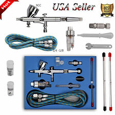 9cc Airbrush Spray Gun Dual Action Paint Art Cake Craft Air Brush Hose Kit USA