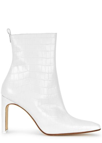Details about  /NEW Miista Marcelle White Croc Leather Boots US 6.5 EU 37 $435