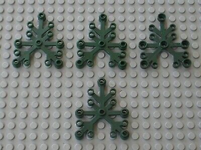 2 x lego sheet dkpurple plant leave for tree 2417//set 41074 41076 41075 41182