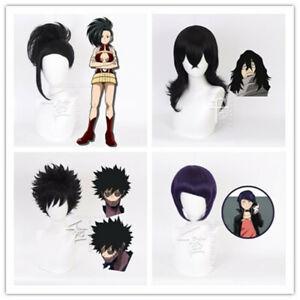 Details About My Boku No Hero Academia Cosplay Wig Yaoyorozu Momo Dabi Jirou Aizawa Eraser