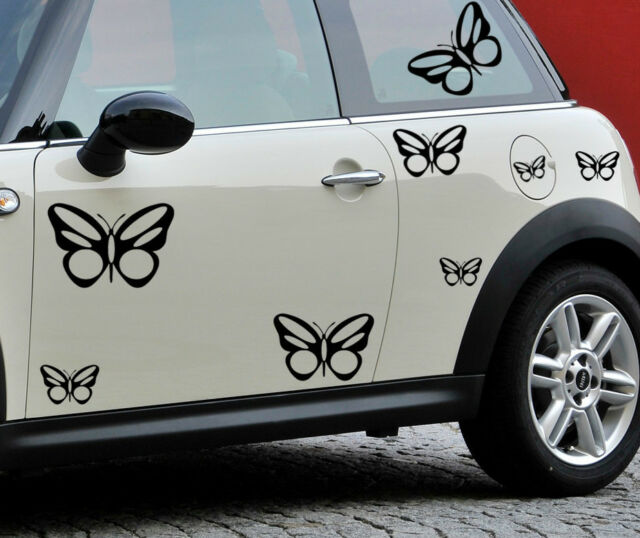 Butterfly Flower Art Vinyl 26 x Sticker Novelty Label EURO JDM Car/Window/Bumper