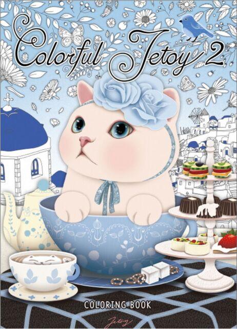 Colorful Jetoy Cat Coloring Book Cute Cat Choo Choo Ver. 2 Anti Stress Painting