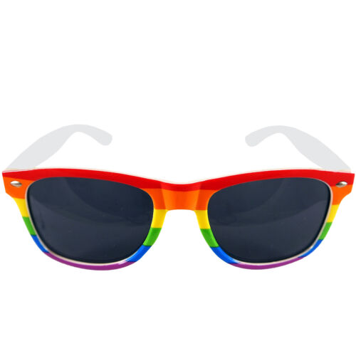 NEW ADULT PRIDE RAINBOW FRAME DARK LENS GLASSES FANCY DRESS ACCESSORY