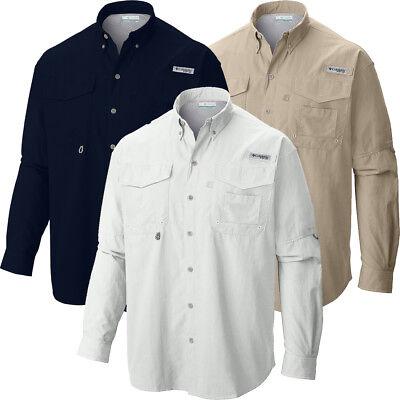 "New Mens Columbia PFG /""Bahama II/"" Omni-Shade Vented  Fishing Shirt Big /& Tall"