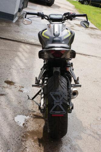 Mt-07 fenderless Clignotant support acier inoxydable noir Revêtement Indicator Bracket