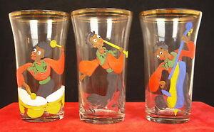 Three-Glasses-1900-Black-Musicians-Charleston-Painted-Par-Dap-Glasses-Music