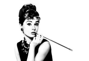 Exceptionnel Image Is Loading LARGE AUDREY HEPBURN  CIGARETTE HOLDER ICONIC CANVAS PICTURE