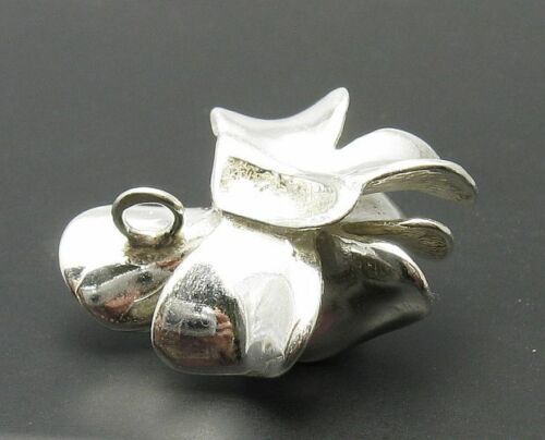 Pendentif en Argent Sterling Fleur 925 Nouveau Perle Solide
