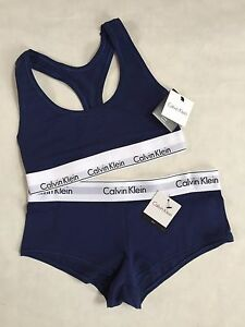 calvin klein underwear navy blue sports bra bralette. Black Bedroom Furniture Sets. Home Design Ideas