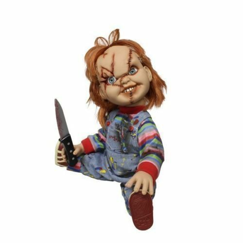 """CHILD/'S PLAY 15/"""" SCARRED TALKING CHUCKY Mega scale figure with sound MEZCO 2015"""