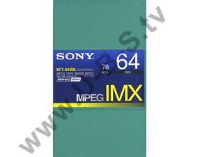 MPEG IMX Kassette Sony BCT-64MXL NEU