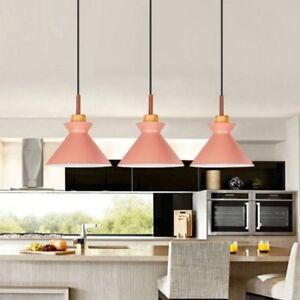 Details about Kitchen Pendant Lighting Bar Pink Lamp Modern Ceiling Lights  Wood Pendant Light