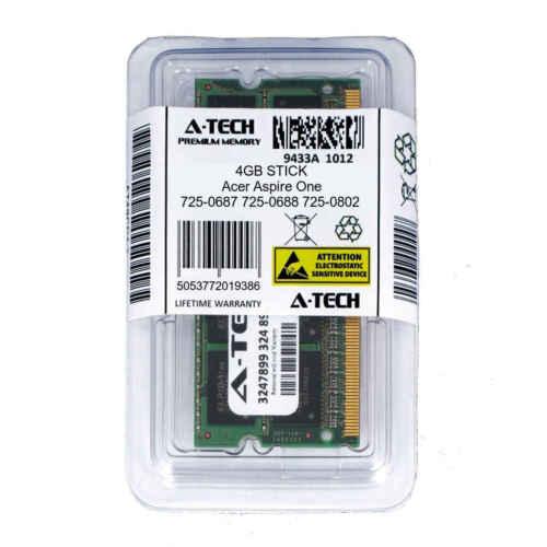 4GB SODIMM Acer Aspire One 725-0687 725-0688 725-0802 PC3-8500 Ram Memory