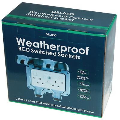 BG Nexus IP66 Outdoor Double Socket RCD Weatherproof 13A Twin Socket WP22RCD