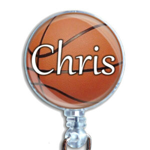 Personalized Basketball Badge Reel Retractable Lanyard ID Name Badge Holder