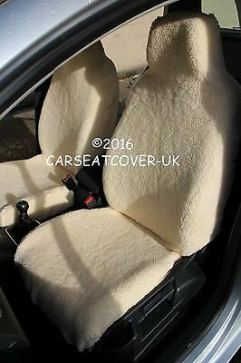 Front Pair Luxury Faux SHEEPSKIN FUR Car Seat Covers FORD FIESTA