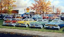 """Ken Zylla """"Past Gas Old Car Art Print Signed and Numbered 30"""" x 18"""""""