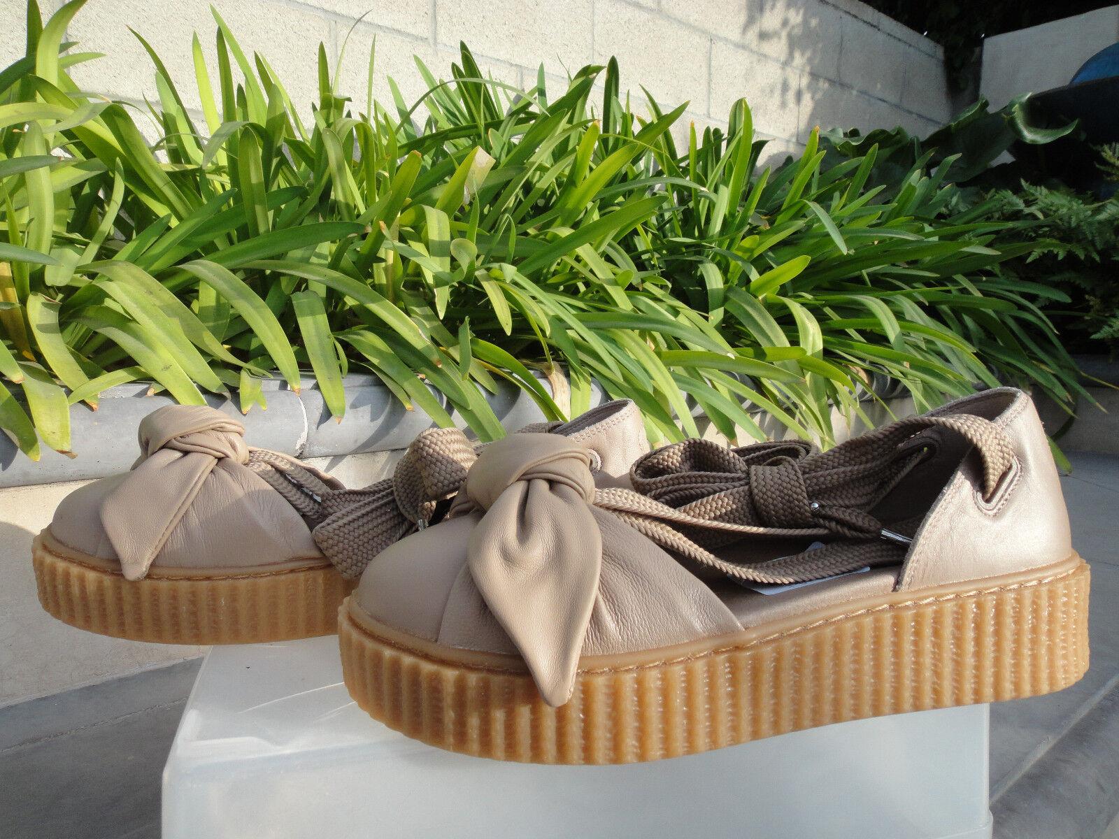 zapatostring Puma de Rihanna, arco Creeper Sandalias Sandalias Sandalias Plataforma, harina de avena, eligió Tamaño Natural   minorista de fitness