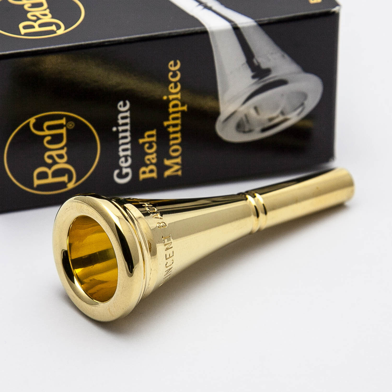 Genuine Bach 12 24K Gold French Horn Mouthpiece NEW