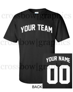 7936fef95 CUSTOM T-Shirt JERSEY Arched Personalized ANY COLOR Name Number Team ...