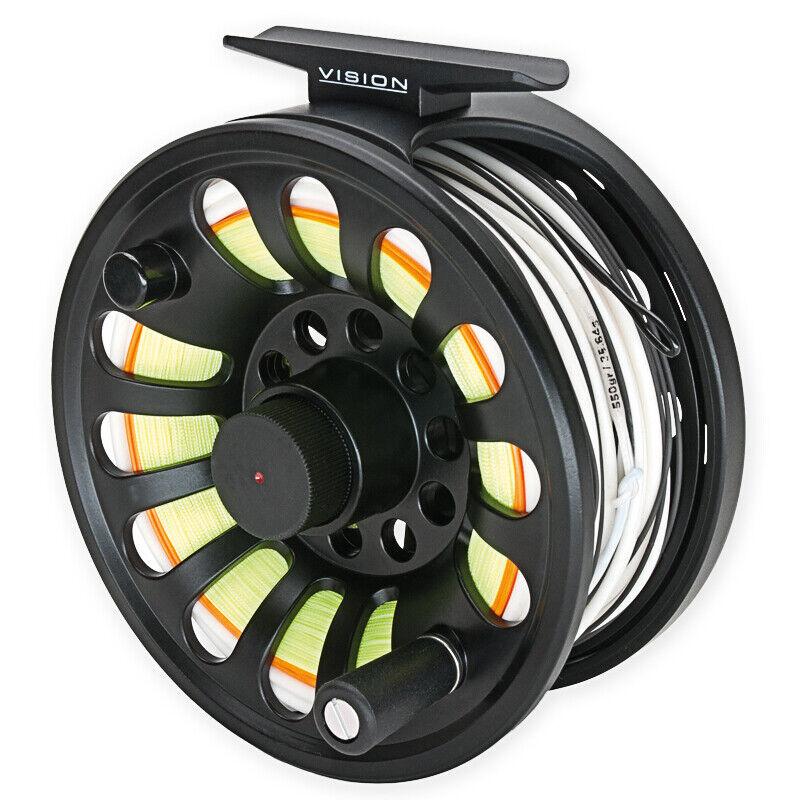 New  Vision deep negro fly  Reel fly fishing reel súper Price   tienda de venta