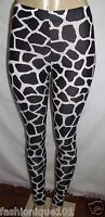 H&m Divided Black & White Jersey Pattern Leggings Size Xs Us