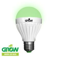 GROW1 Green LED Light Bulb 9w 110v PLANT SAFE Super Bright SAVE $ W/ BAY HYDRO
