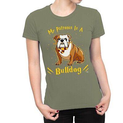 1Tee Womens My Patronus Is A Bulldog Dog T-Shirt