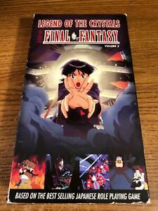 Legends-Of-The-Crystals-Final-Fantasy-VHS-VCR-Video-Movie-Used-Cartoon-RARE