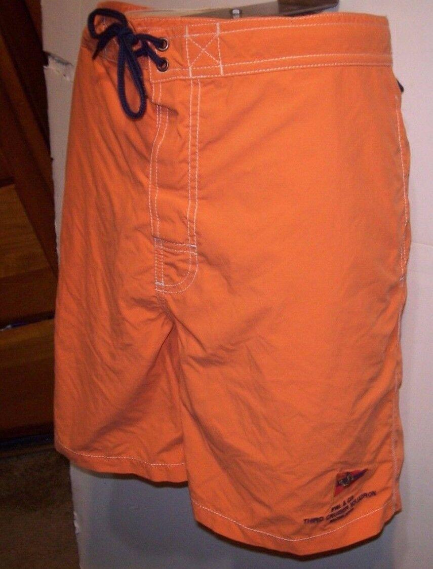 Polo Ralph Lauren orange board shorts swimsuit trunks XL Third Cruiser Squadron