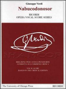 Style De Mode Verdi Nabucodonosor Opéra Vocal Score Voix Et Piano Sheet Music Book Classique-afficher Le Titre D'origine Soulager La Chaleur Et La Soif.