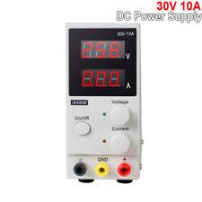 New Listingnew 30v 10a Adjustable Dc Power Supply Precision Variable Dual Digital Lab Test