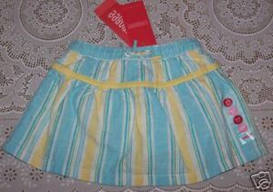 Baby & Toddler Clothing Nwt 3-6 Months Gymboree Pool Party Striped Woven Skort Skirt Linen