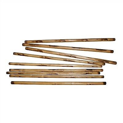 "10 Rattan Canete Doce Pares Filipino Eskrima Kali Arnis 28/"" Burn Sticks BULK LOT"