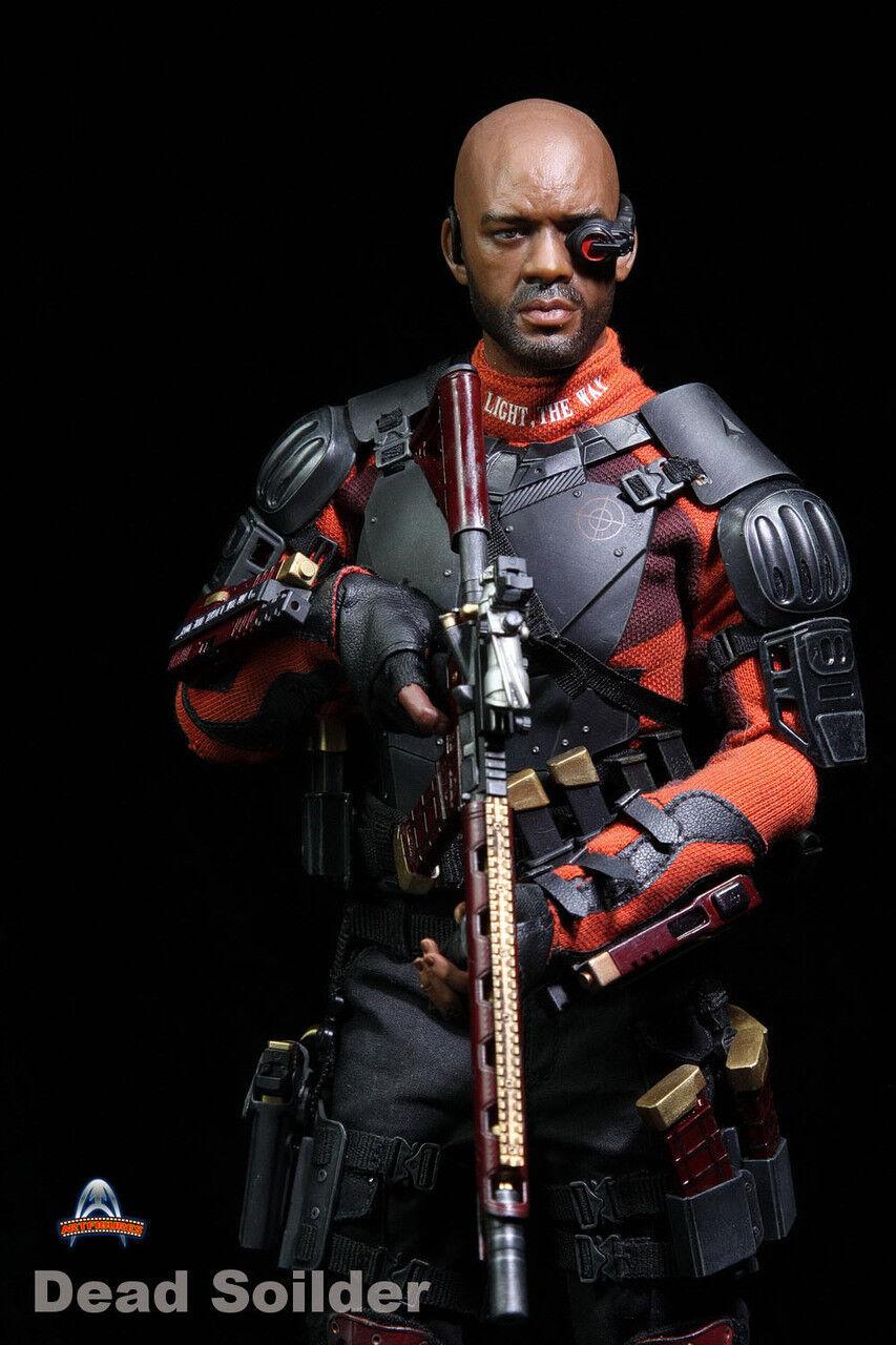 Figuras de arte AF021 1 6 muertos soldado Deadshot suicidio Figura del escuadrón Will Smith 12