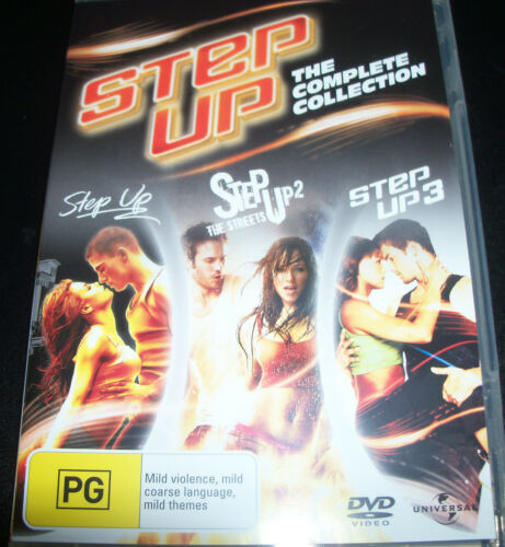 1 of 1 - Step Up / Step Up The Streets / step Up 3  (Aust Region 4) 3 DVD - Like New