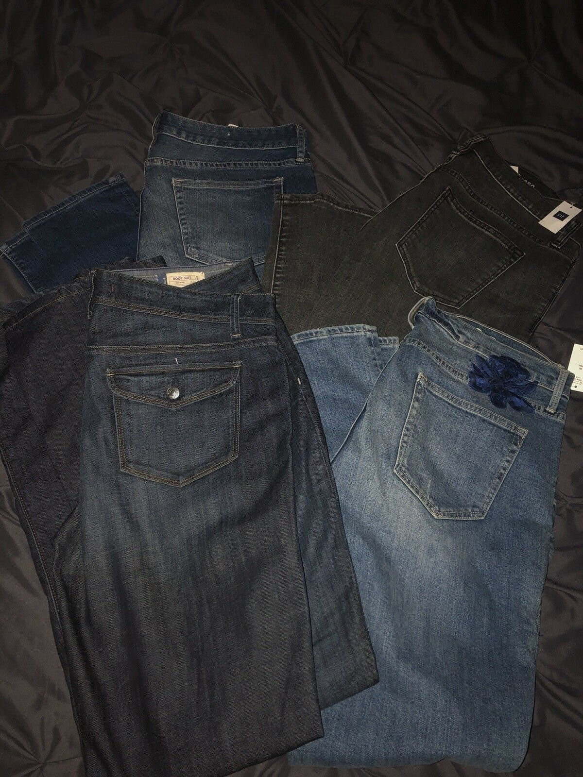2 Pairs Gap Lot Skinny Jeans Bootcut Jeans Pants  1969 14 32 T Tall