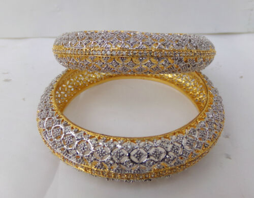 Indian Women Wedding wear Jewelry Diamante Bangles Ethnic Fashion Bracelet Set