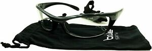 Bolle Safety 253-SR-40066 Safety Spider Eyewear with Black Nylon + TPE Frame and