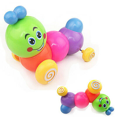 Kids Lovely Colorful Caterpillar Wind-up Toys Baby Developmental Educational Toy