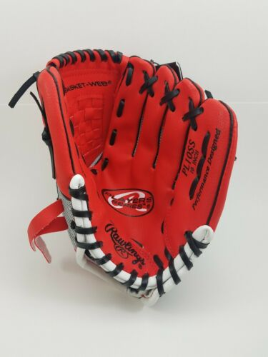 """Rawlings Player Series tee balle gant PL10SS 10/"""" LH Lefty Rouge//Maille Dos"""