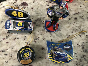 Jimmie Johnson Lot Of 4 Nascar Christmas Tree Ornaments ...