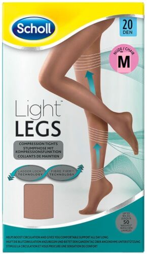 Scholl Light Legs Compression Tights 20den NUDE size SMALL ** UK STOCK **