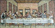 Figure Religious Last Supper Jesus Home Tile Marble Mosaic FG565