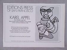 Karel Appel Graphic Prints PRINT AD - 1975